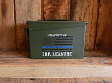 Personalized Ammo Can Thin Blue Line