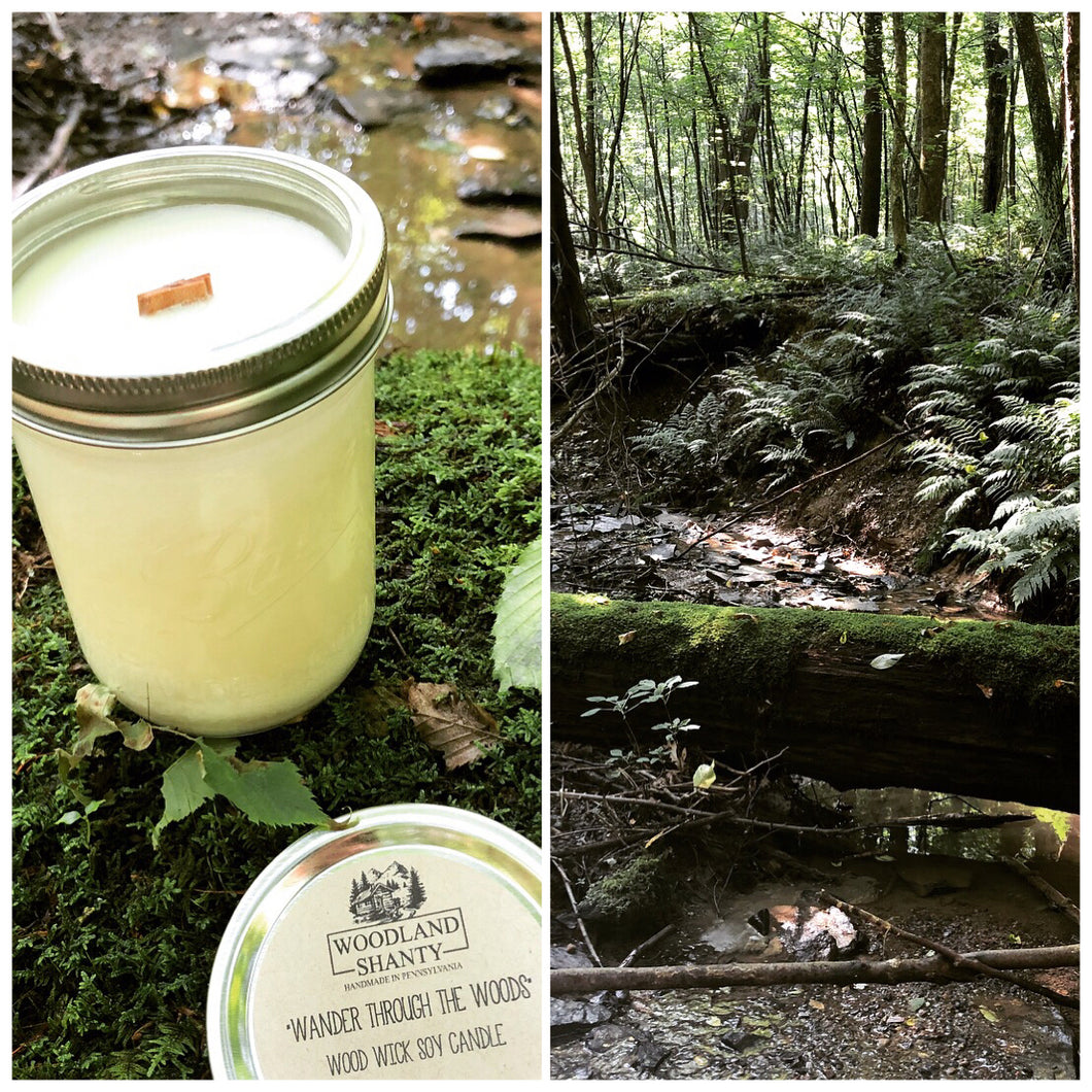 Wander Through the Woods | Wood Wick Soy Candle | Signature Scent