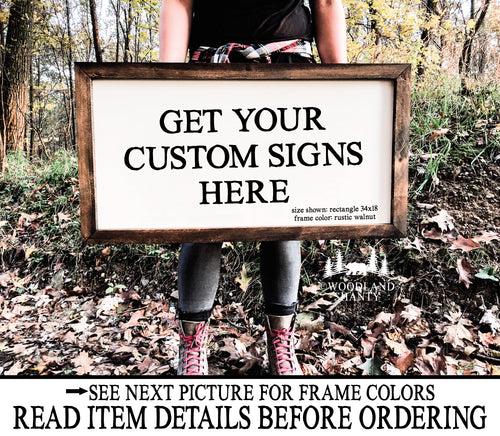 Custom Framed Signs