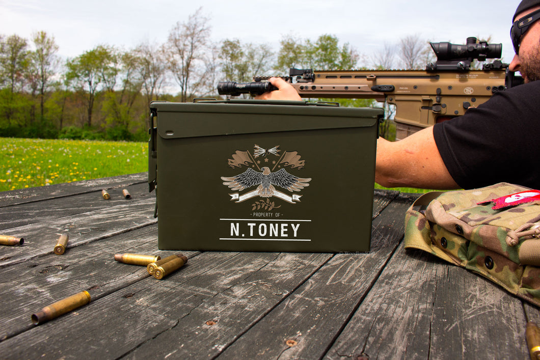Personalized Eagle .30 Cal Ammo Can