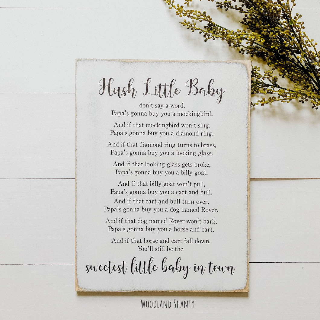 Hush Little Baby Sign