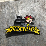 "Punch Nazis 2"" Real Motion Soft Enamel Pin (Glitter Bomb Edition)"