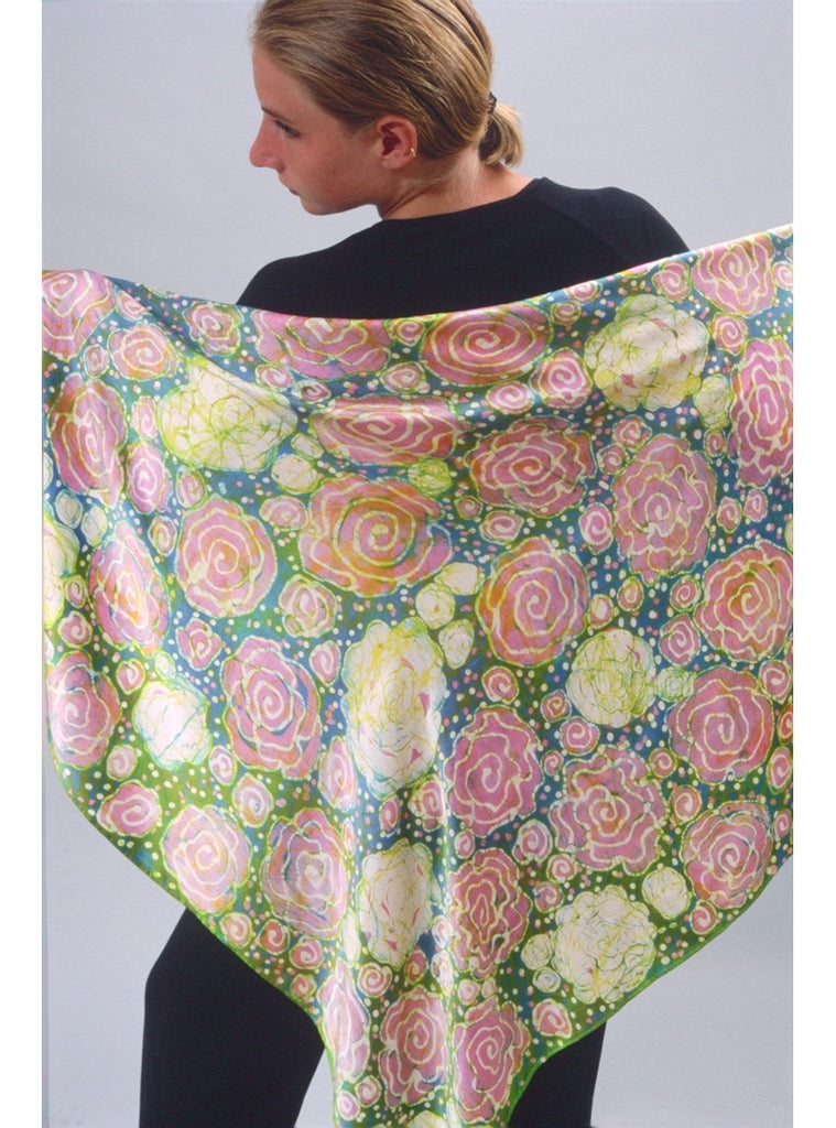 Cabbage Rose Scarf