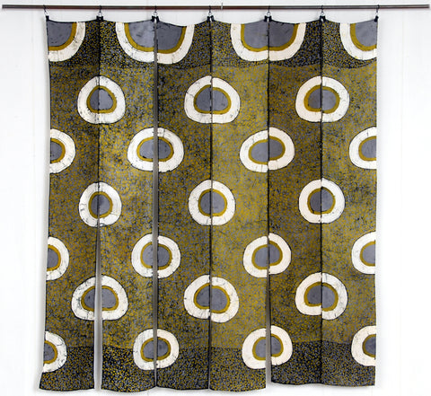 """Golden Orbs""  Wall Hanging"