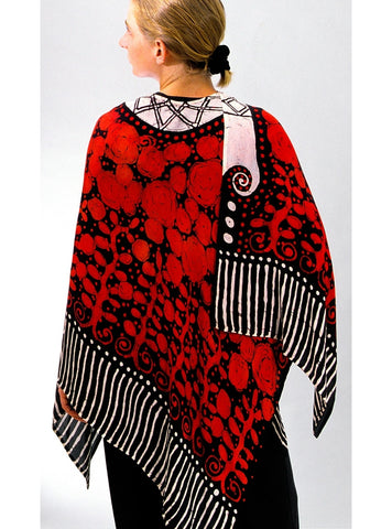 Red Roses Shawl