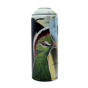 Fischer's Turaco - Hand-Painted Spray Paint Can