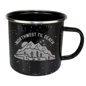 Mountainscape Enamel Camp Mug