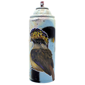 Royal Flycatcher - Hand-Painted Spray Paint Can