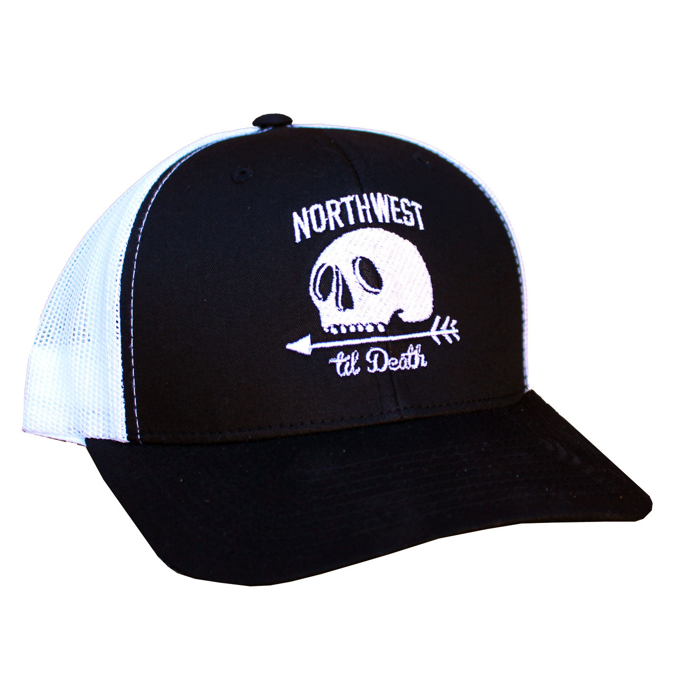 Standard Issue Trucker Hat - Black/White