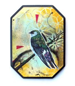 Violet-Green Swallow - Original Painting