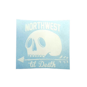 Northwest Til Death Die cut sticker