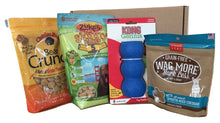 Dog gift pack with interactive dog feeders, puzzles and treats