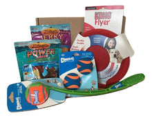 Dog gift box with outdoor toys and endurance treats for dogs