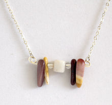 The tie that binds Necklace Mookaite, Clear and Milky Quartz