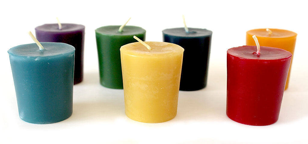 Beeswax Votive Candles Colour Singles