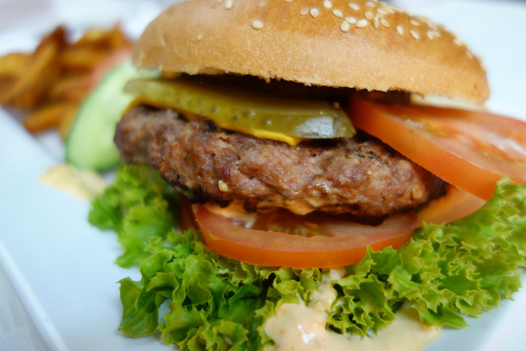 Gluten Free Beef Burger Patties, DEPOSIT: