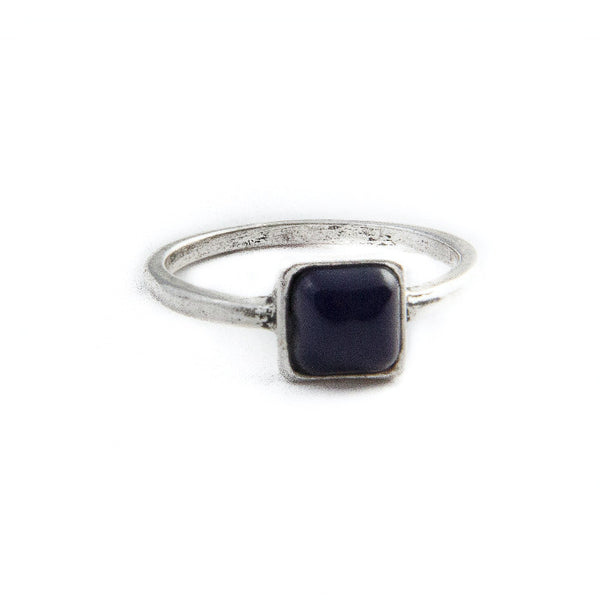 "Square ""Stoned"" Ring"