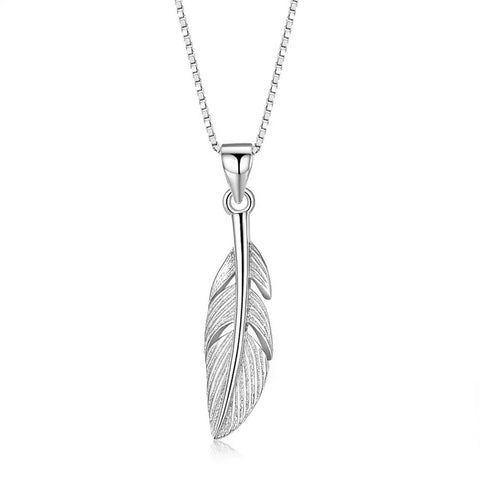 Sterling Silver Feather of Life Necklace