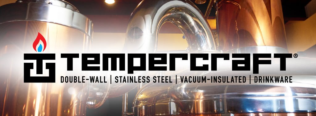 Timpercraft. Double-wall, stanless steel, vacuum-insulated drinkware.