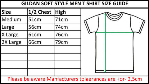 gildan softstyle mens size guide