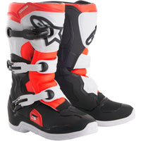 Alpinestar Tech 3S Youth Boots BLACK/WHITE/FLUO RED