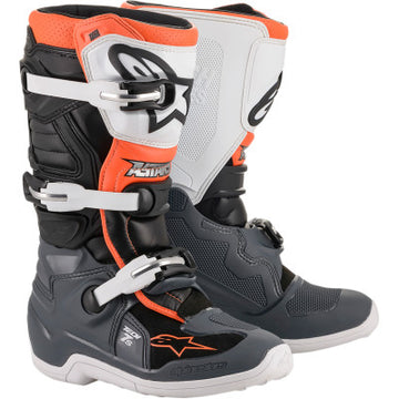 Alpinestar Tech 7S Youth MX Boot BLACK/GREY/WHITE/ORANGE