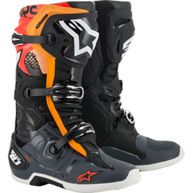 Alpinestar MX Boot Tech 10 BLACK/GREY/ORANGE/FLUO RED
