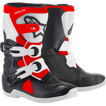 Alpinestar Tech 3S Kids Boots BLACK/WHITE/FLUO RED