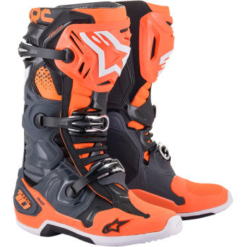 Alpinestar Tech 10 Boots - Gray/Orange/Black/White