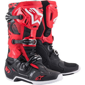 Alpinestar Tech 10 Boots - Black/White/Red