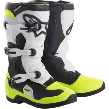 Alpinestar Tech 3S Youth Boots BLACK/WHITE/FLUO YELLOW