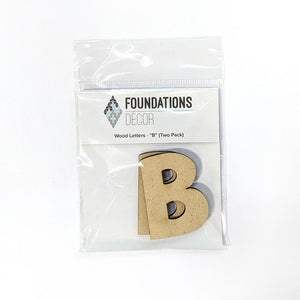 Wood Letters - ''B'' (Two Pack)