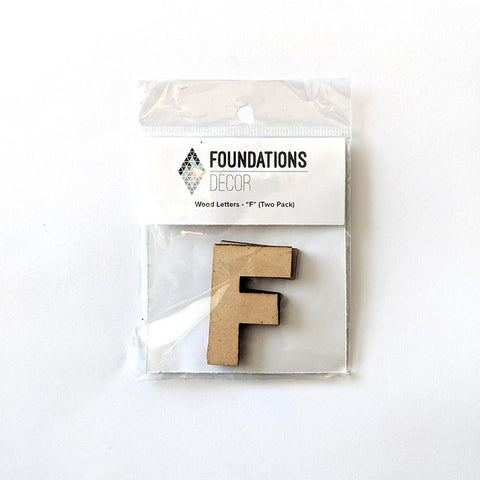 Wood Letters - ''F'' (Two Pack)
