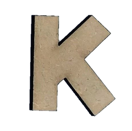 Wood Letters - ''K'' (Two Pack)