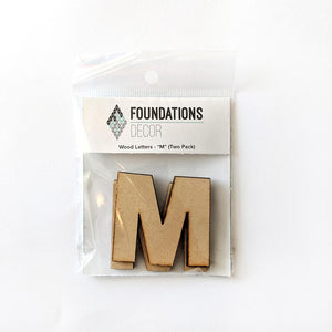 Wood Letters - ''M'' (Two Pack)
