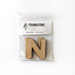 Wood Letters - ''N'' (Two Pack)