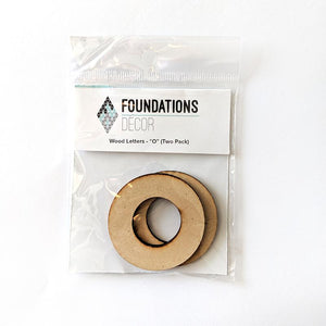 Wood Letters - ''O'' (Two Pack)