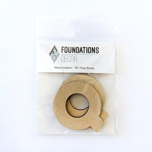 Wood Letters - ''Q'' (Two Pack)