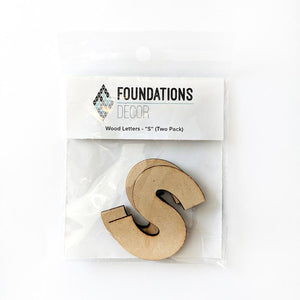 Wood Letters - ''S'' (Two Pack)