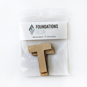 Wood Letters - ''T'' (Two Pack)