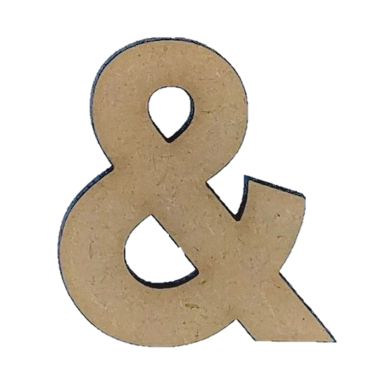 Wood Letters - ''&'' (Two Pack)