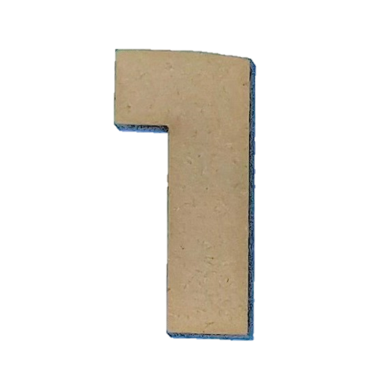 Wood Numbers - ''1'' (Two Pack)
