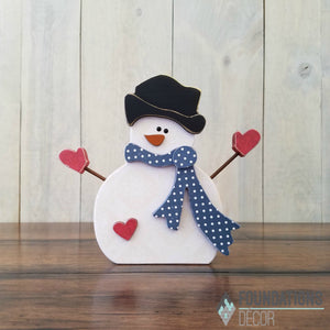 Winter Snowman with Arms