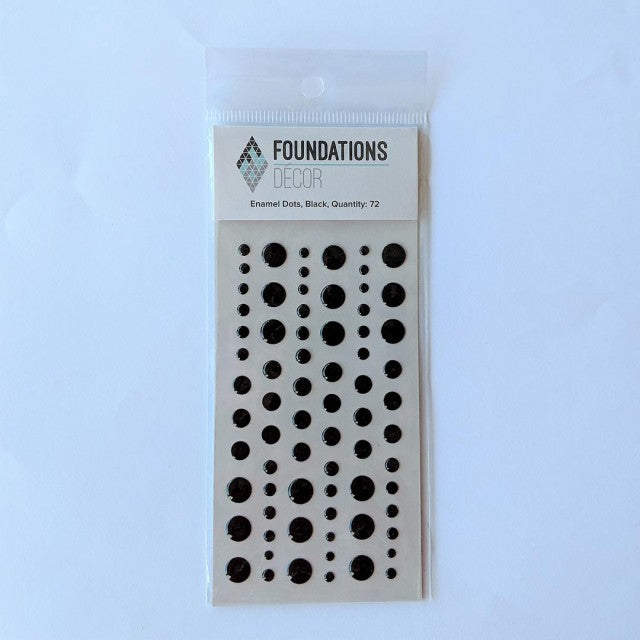 Enamel Dots - Black