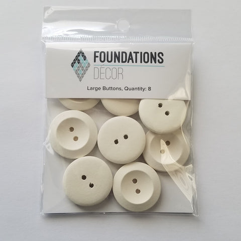 Buttons - Off White Large