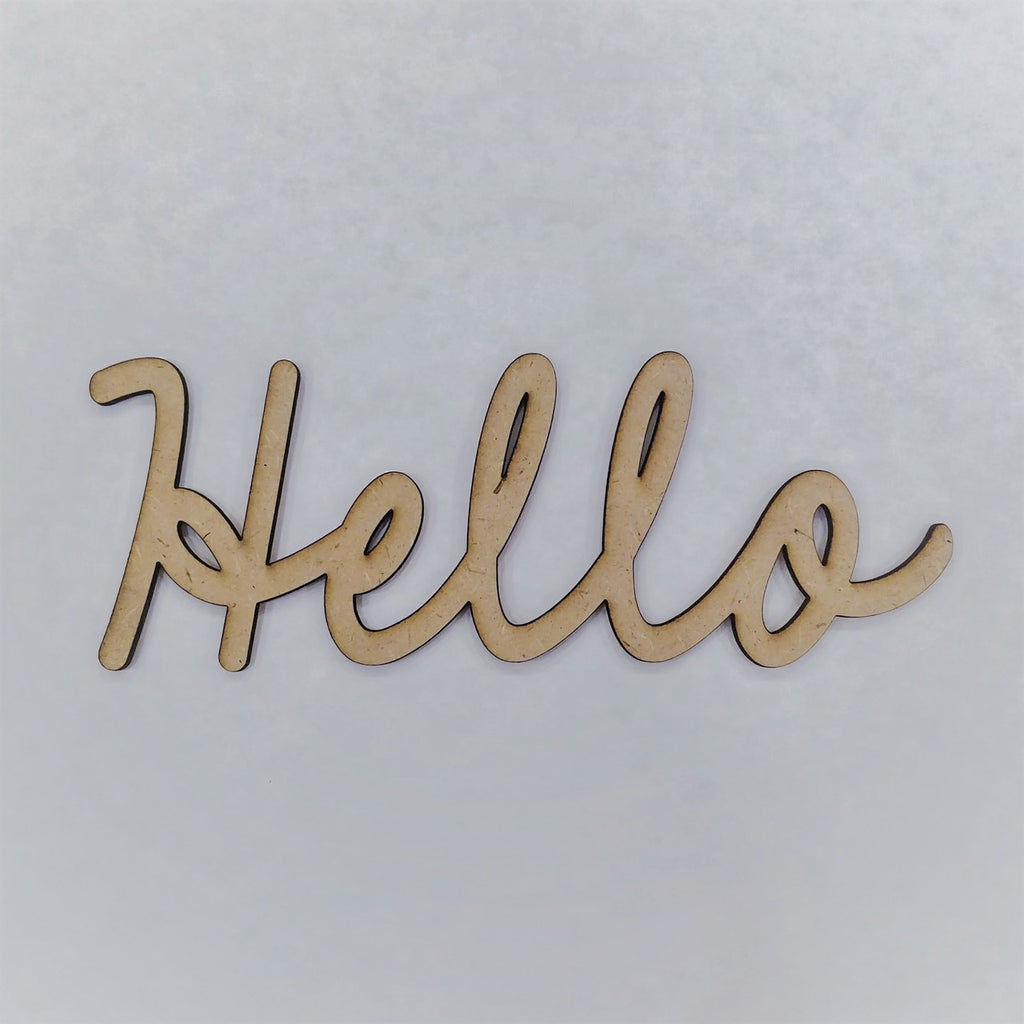 """Hello"" - smooth font"