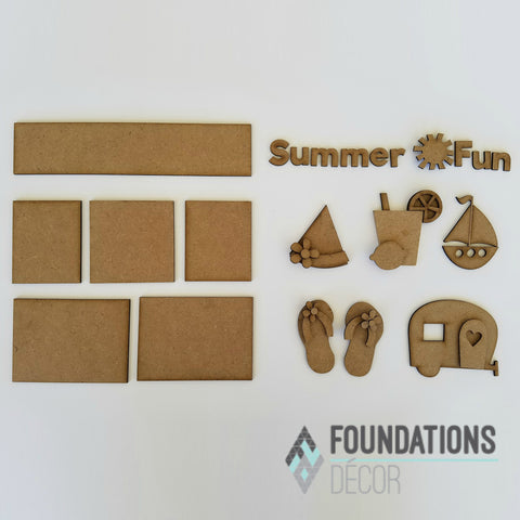 Summer Fun Shadow Box Kit