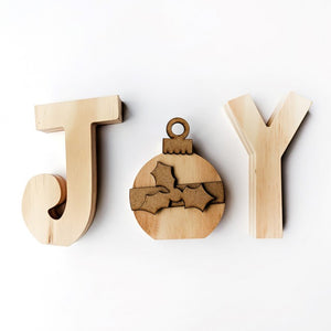 JOY with Ornament