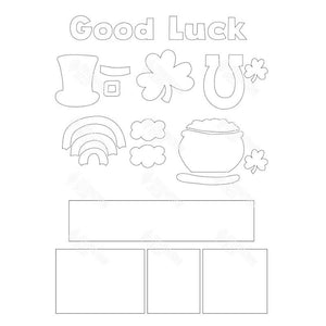 SVG File - Good Luck Shadow Box Kit