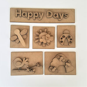 Happy Days Shadow Box Kit